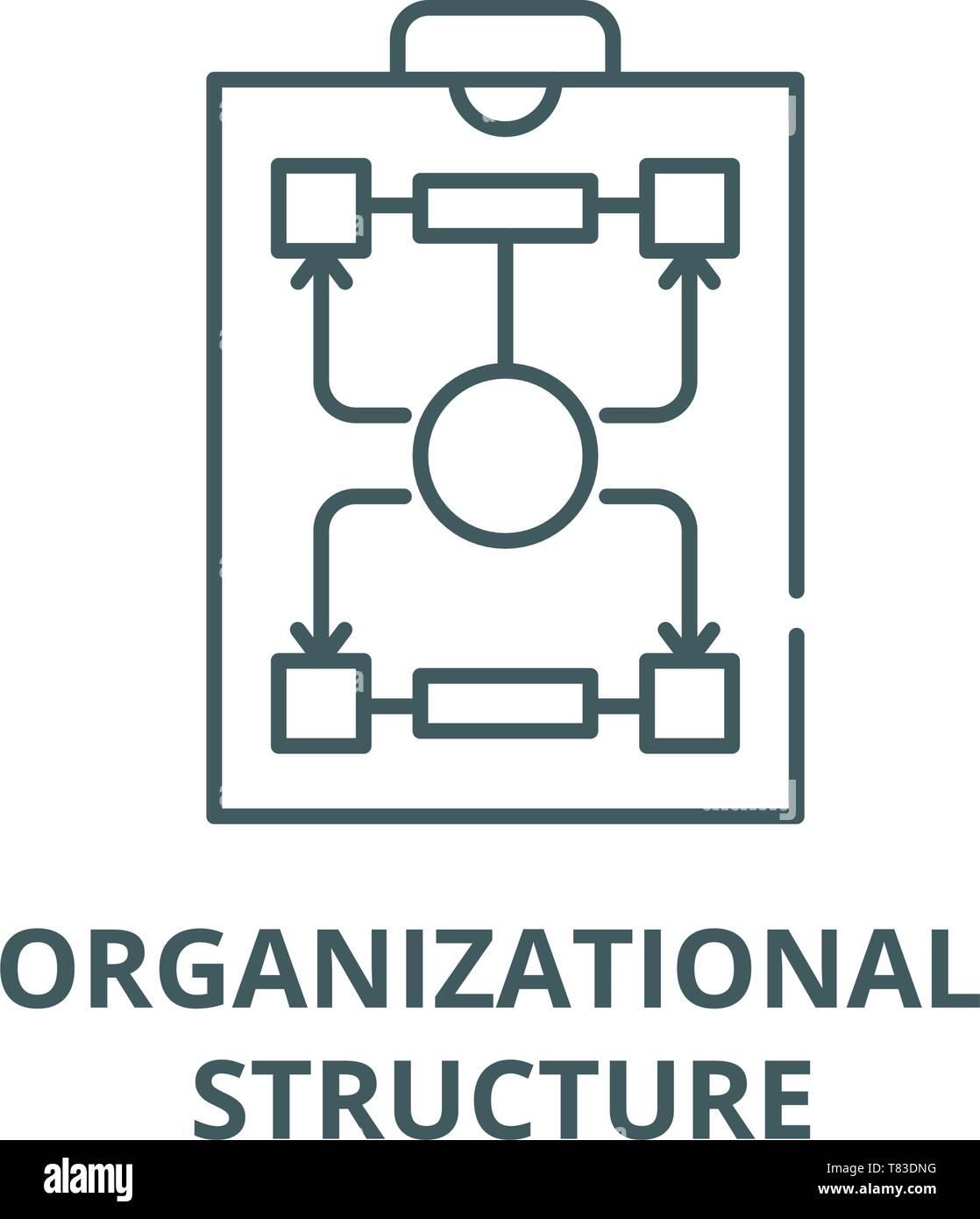 Estructura Organizativa Línea Vector Icono Concepto Lineal