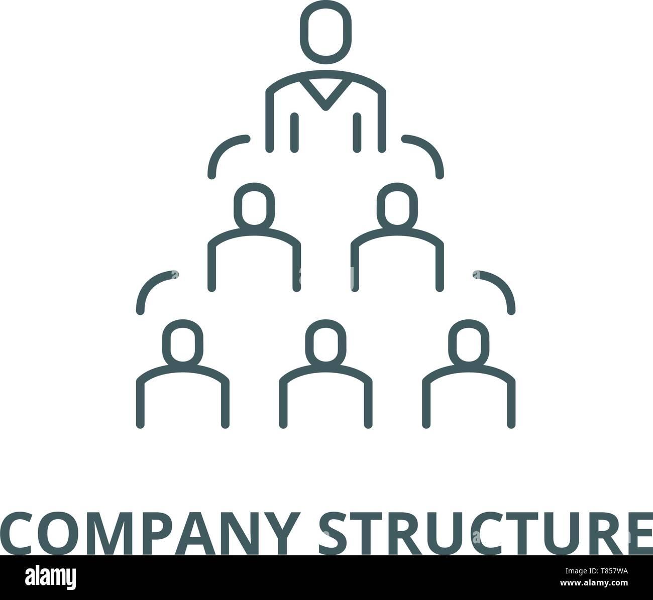 La Estructura De La Empresa Línea Vector Icono Concepto