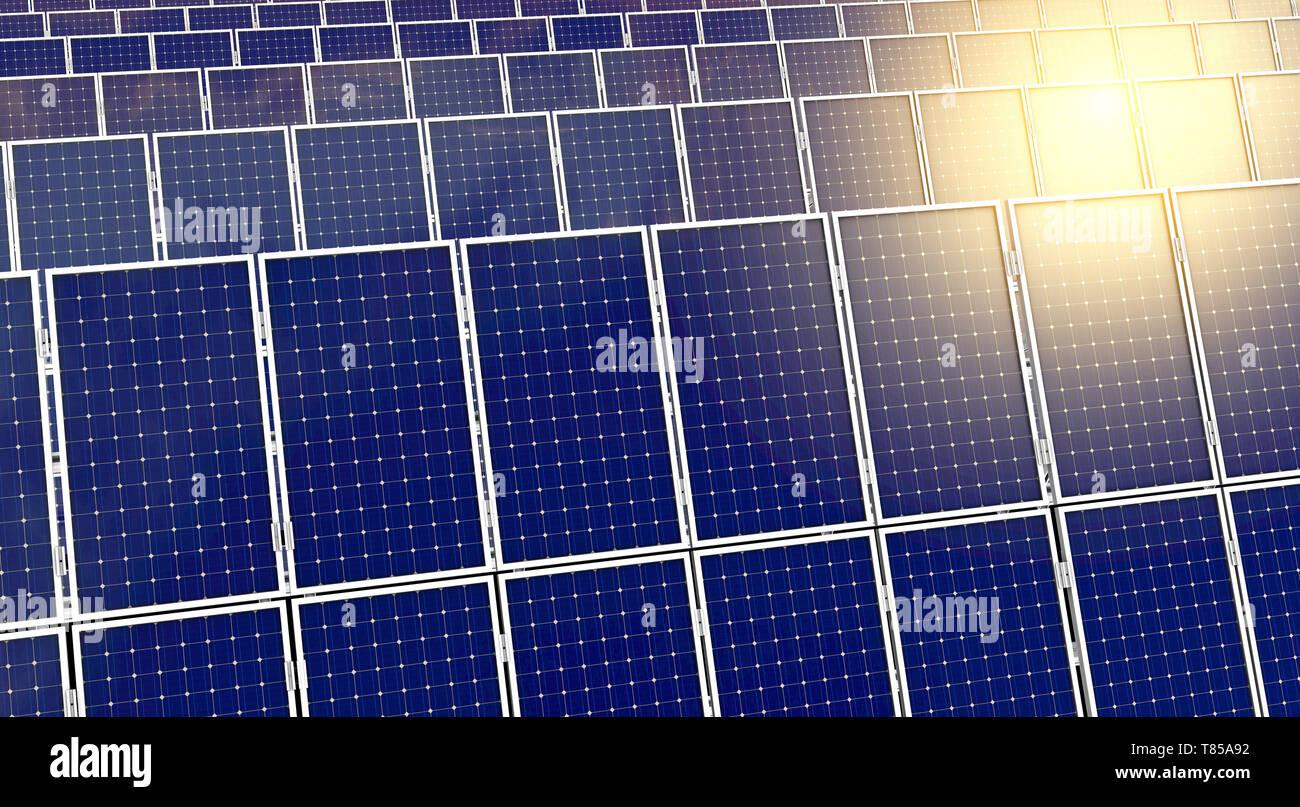 Los paneles solares, ilustración Imagen De Stock