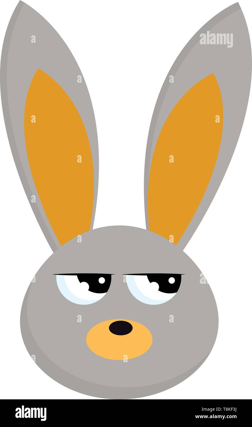 Los conejos son pequeños mamíferos peludos, con orejas largas, largas patas traseras y una cola corta, vector, el color de dibujo o ilustración. Ilustración del Vector