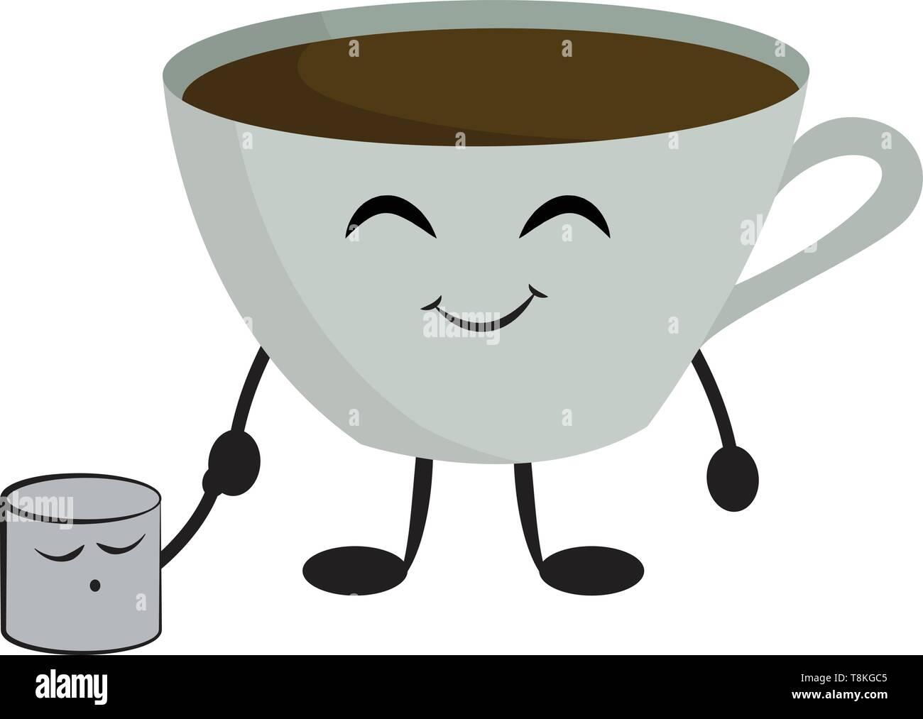 Café Hecho Con Marshmallow Malvavisco Esponjoso Es Un Dulce