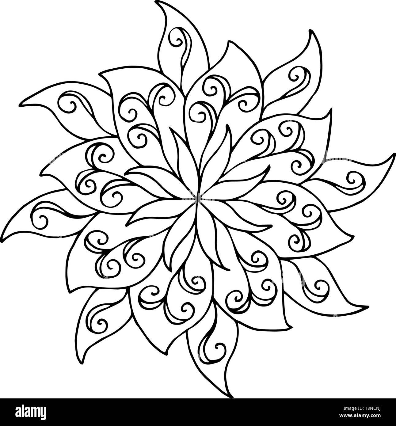 Patrón Abstracto Mandala Para Colorear Libros Para Adultos Y Niños