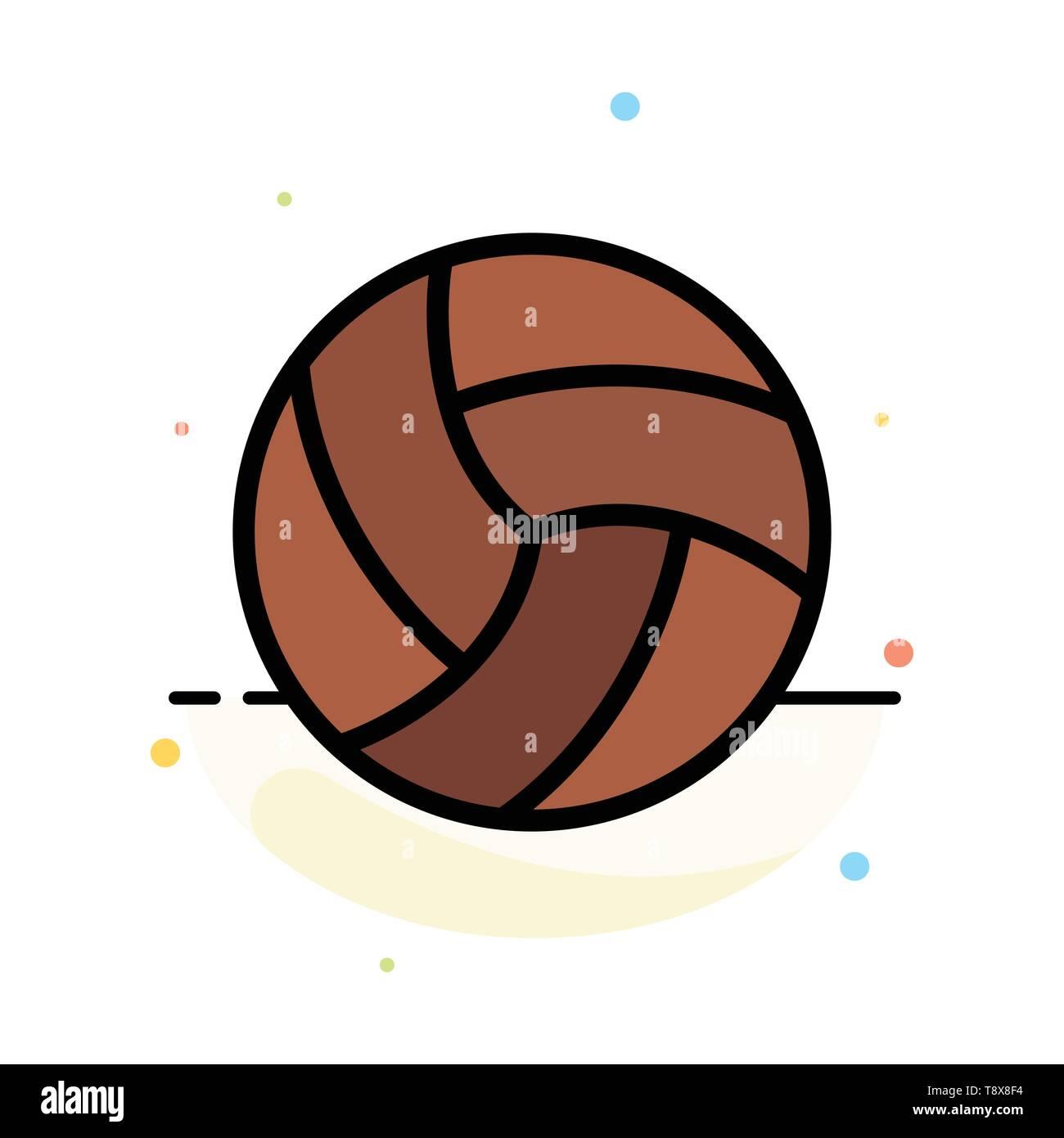 2dab3e02f0e Pelota, voleibol, voleibol, Deporte Color plano abstracto Plantilla de  iconos Imagen De Stock