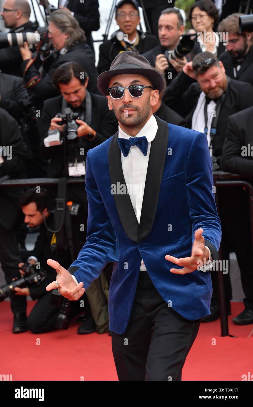 Cannes, Francia. El 15 de mayo, 2019. CANNES, Francia. Mayo 15, 2019: JR en la gala premiere de 'Los miserables' en el Festival de Cannes. Crédito de la imagen: Paul Smith/Alamy Live News Foto de stock