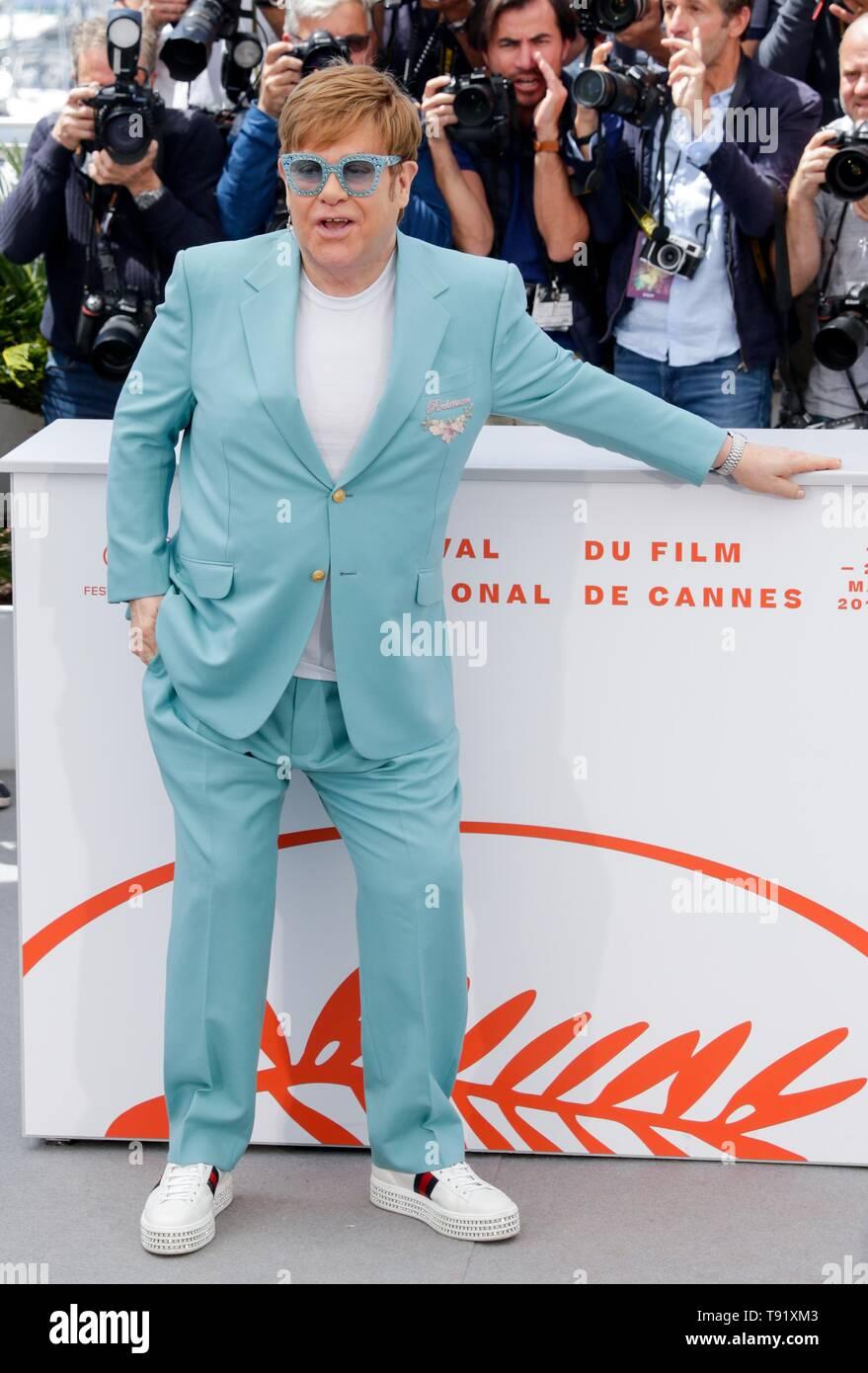 Cannes, Francia. 16 de mayo de 2019. 72ª edición del Festival de Cine de Cannes. ELTON JOHN,2019 CANNES Crédito: Allstar Picture Library/Alamy Live News Foto de stock