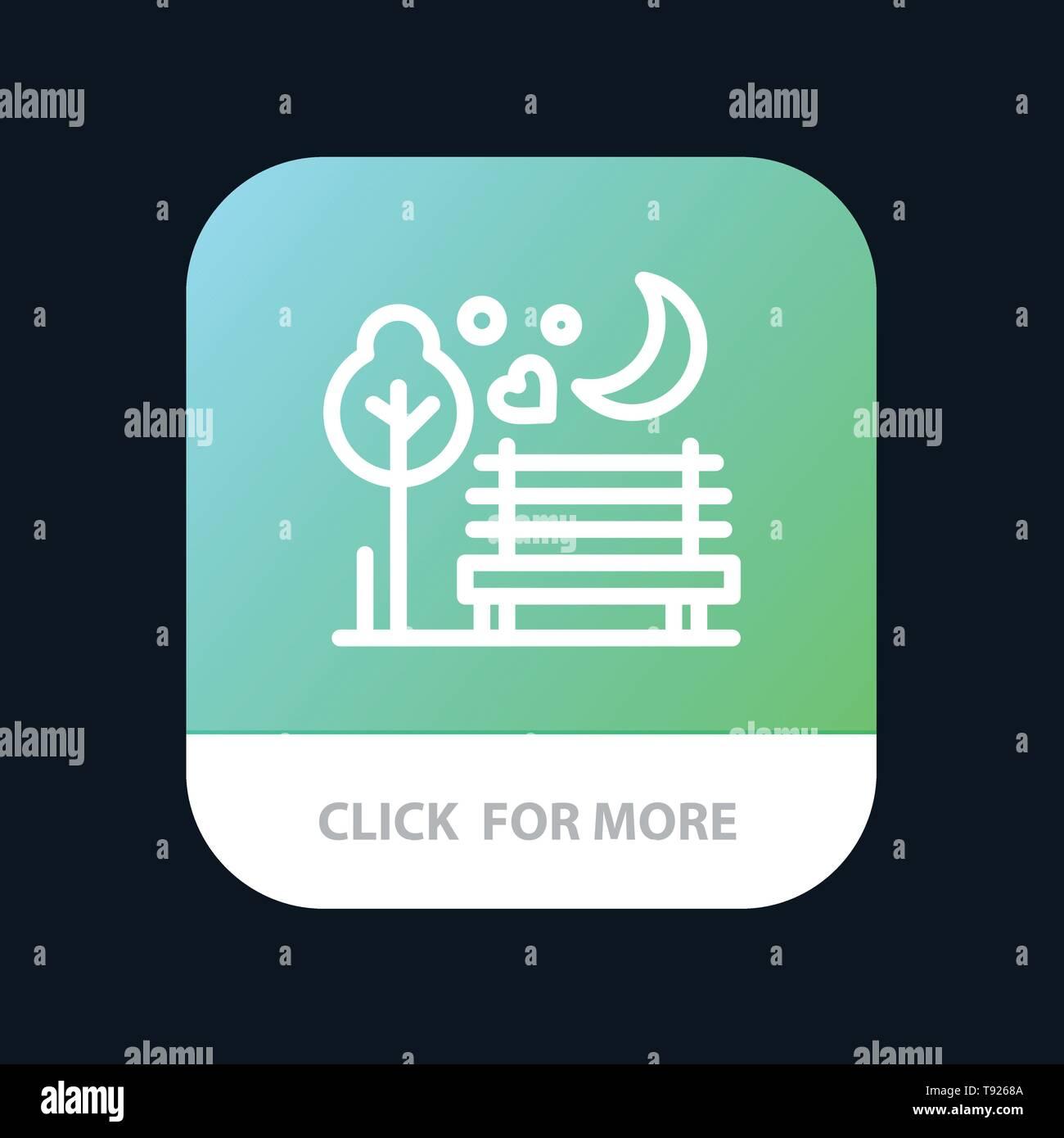 Por la noche, Luna, Romance, romántico, Parque Móvil App