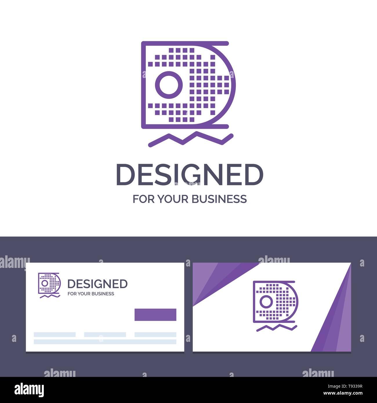 Tarjeta de negocio creativo Logotipo y datos de plantilla, la ciencia, la ciencia, la minería de datos ilustración vectorial Ilustración del Vector