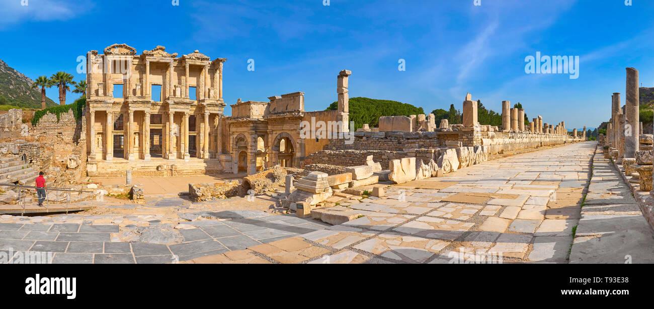 Biblioteca de Celso, Éfeso, Esmirna, Turquía Imagen De Stock