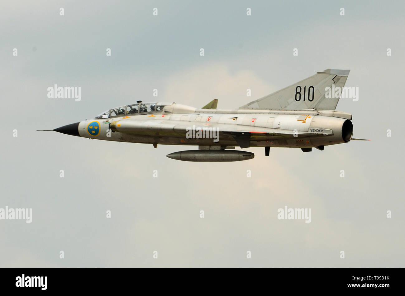 Saab 35 Draken aviones de combate de la guerra fría Imagen De Stock