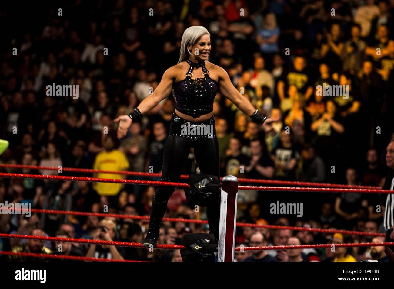 WWE Monday Night Raw en el 02 Arena. Londres. El 13 de mayo de 2019 Foto de stock