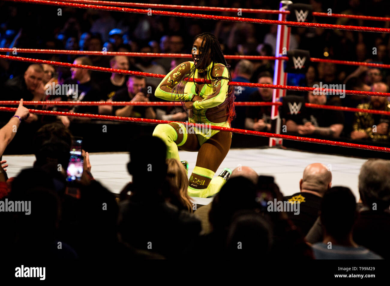 WWE Monday Night Raw en el 02 Arena. Londres. El 13 de mayo de 2019 Foto de stock