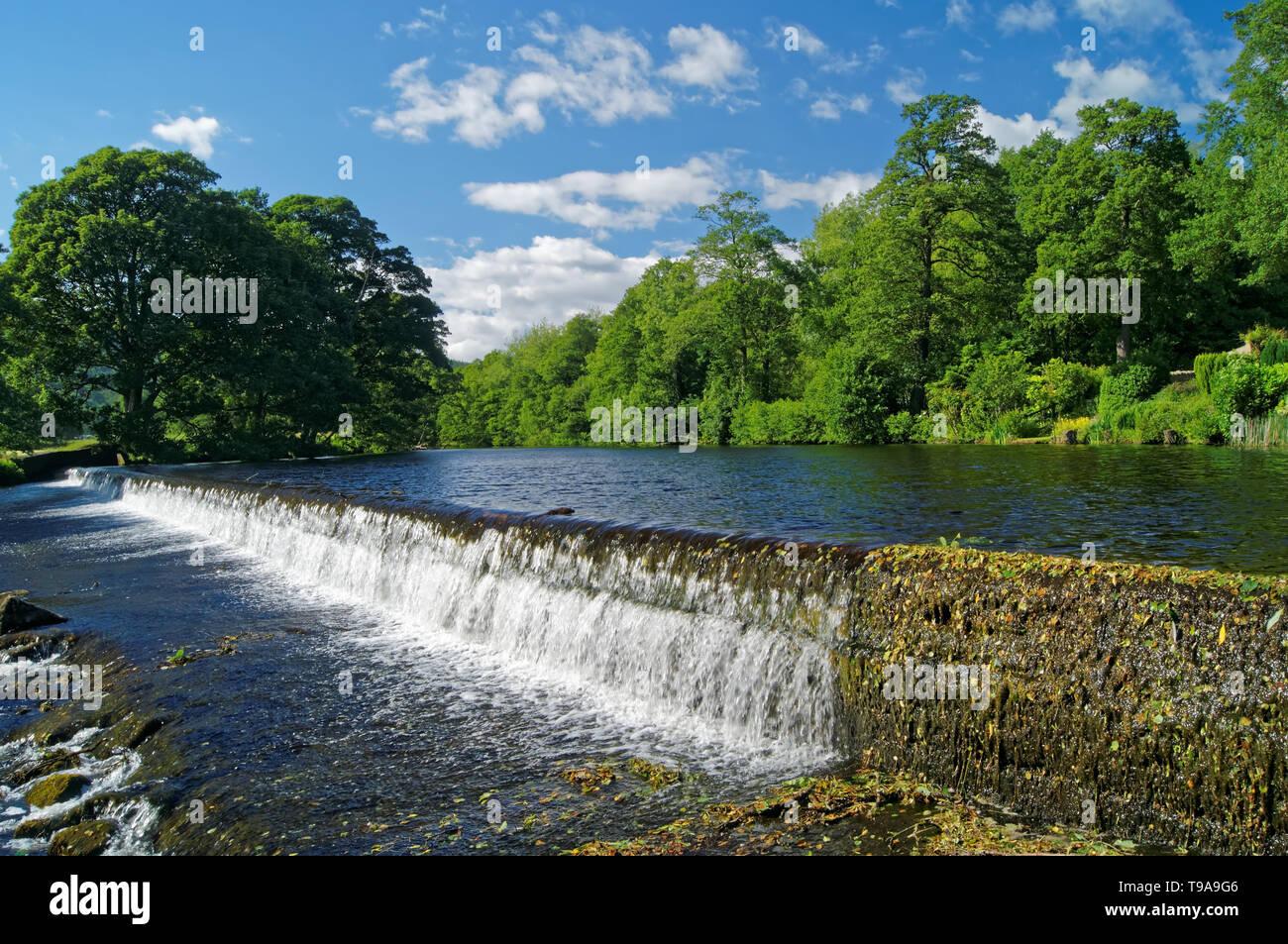 Reino Unido,,Derbyshire Peak District,Bamford Weir Foto de stock