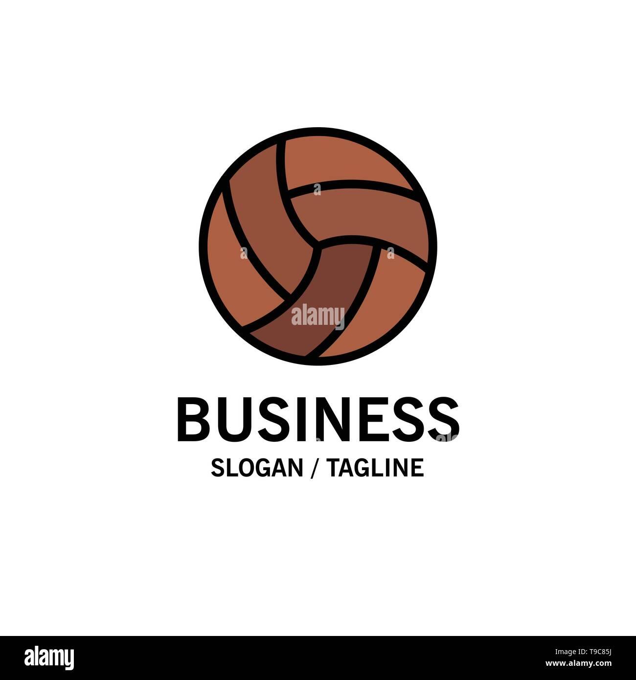 73785a381f2 Pelota, voleibol, voleibol, deporte negocios Logo Plantilla. Color plano  Imagen De Stock
