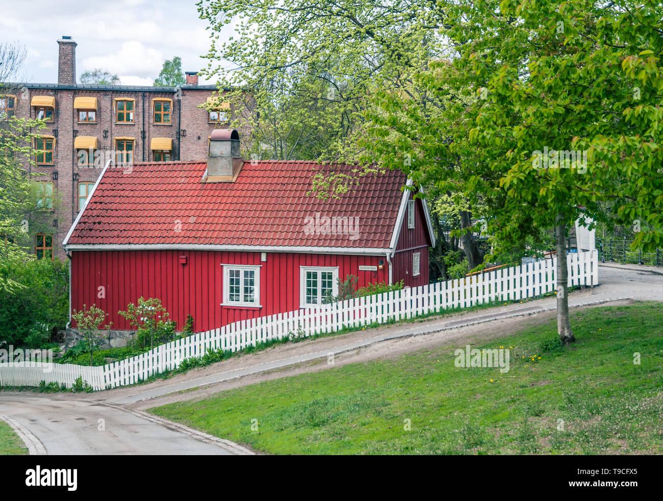 Red House de Oslo, Sandakerveien Foto de stock