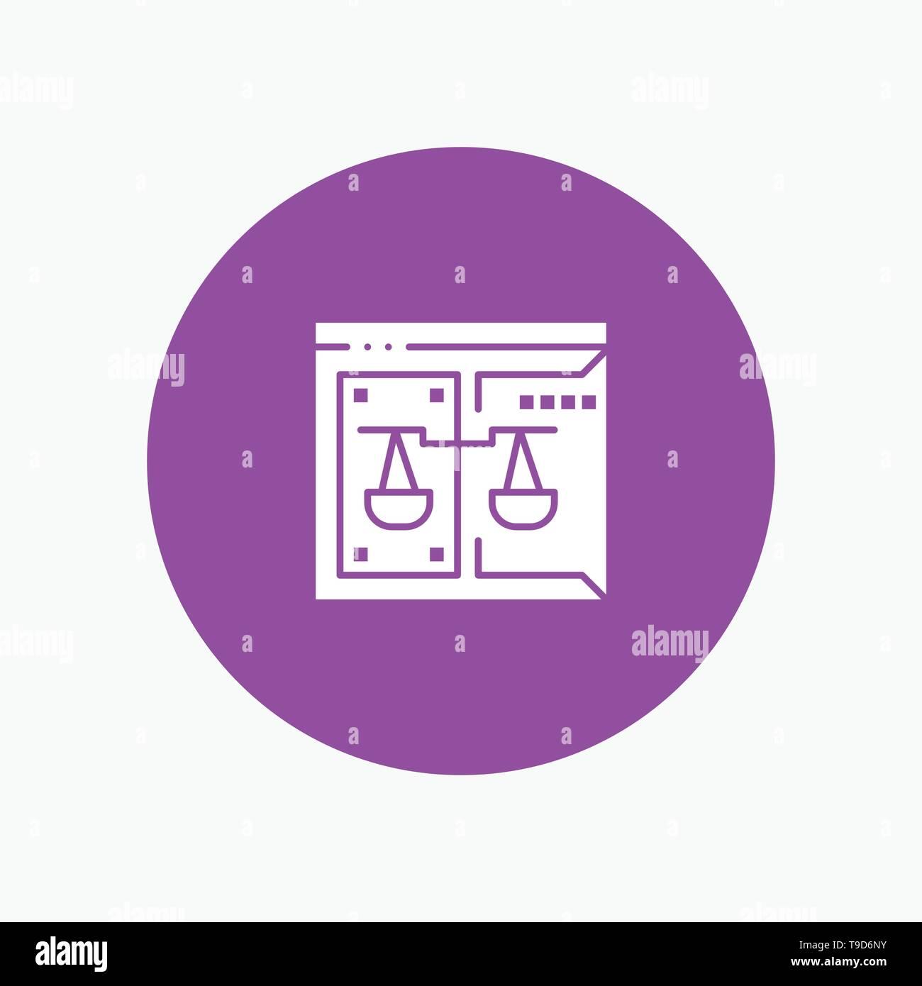 Negocios, Copyright, Tribunal, Digital, derecho Ilustración del Vector