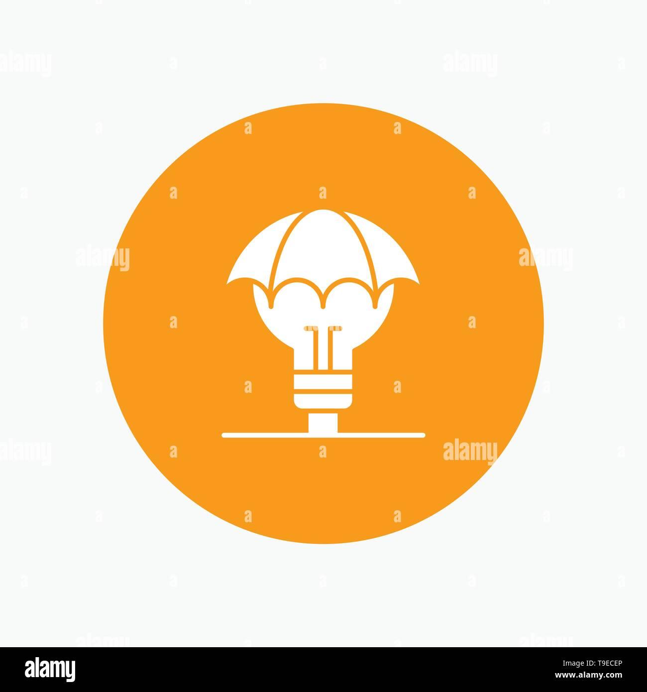 Ideas protegidas, copyright, patente, Idea de defensa Ilustración del Vector