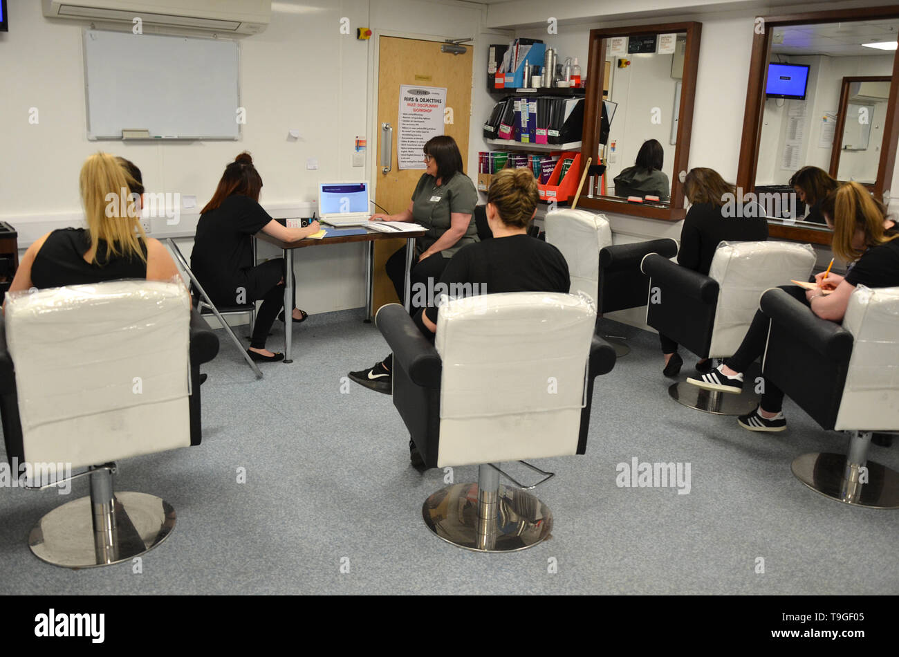 Fomentar la educación, la ciudad gremios calificación standard, estilista profesional Imagen De Stock