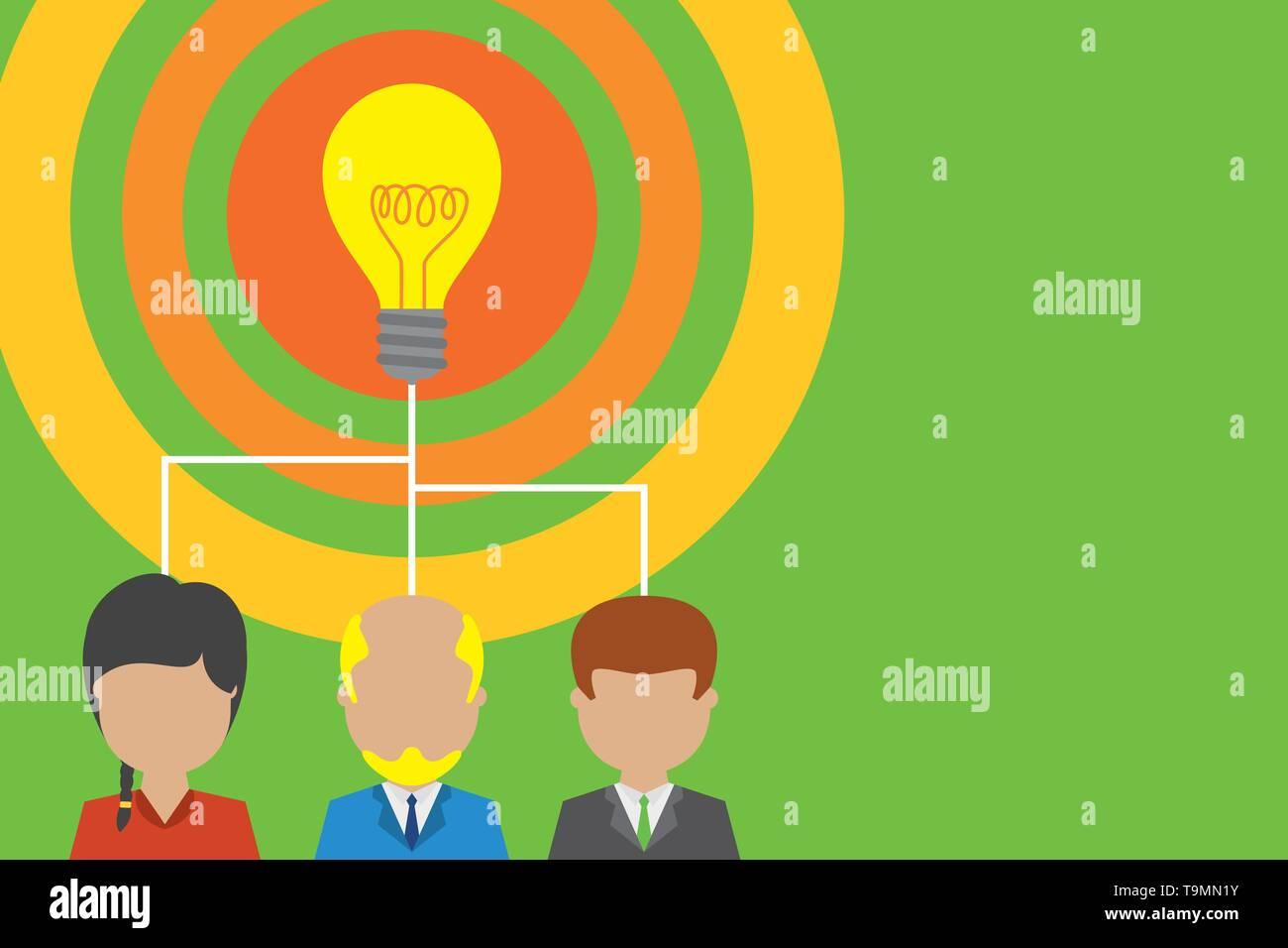Ejecutivo Del Grupo Tres Personas Compartiendo Idea Icono