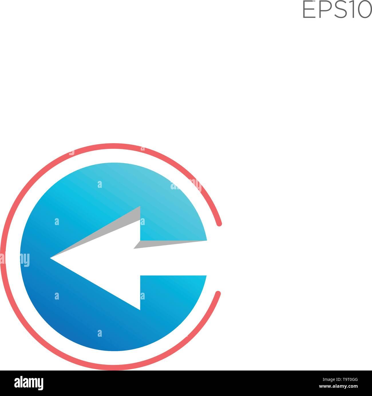 05ff809979 Monograma inicial c, c logotipo color negro plantilla ilustración vector -  vector Imagen De Stock