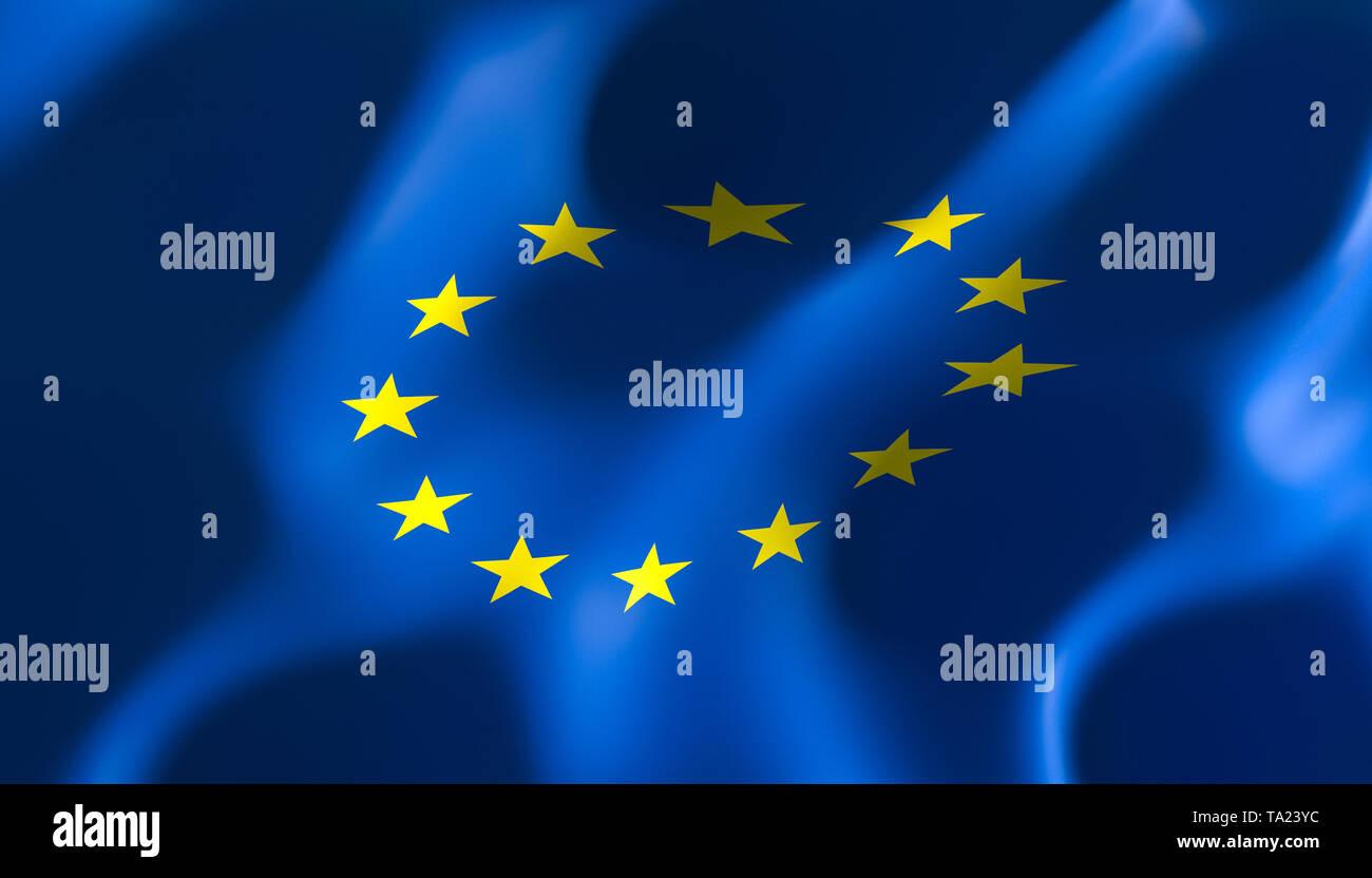 Imagen 3D Render de un pabellón de las naciones europeas Imagen De Stock