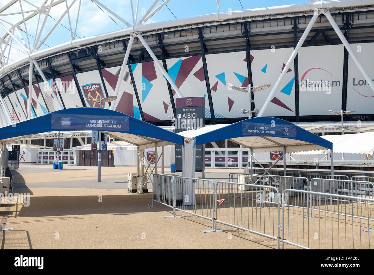 El London Stadium, hogar del West Ham United y el atletismo en el Reino Unido. Imagen De Stock