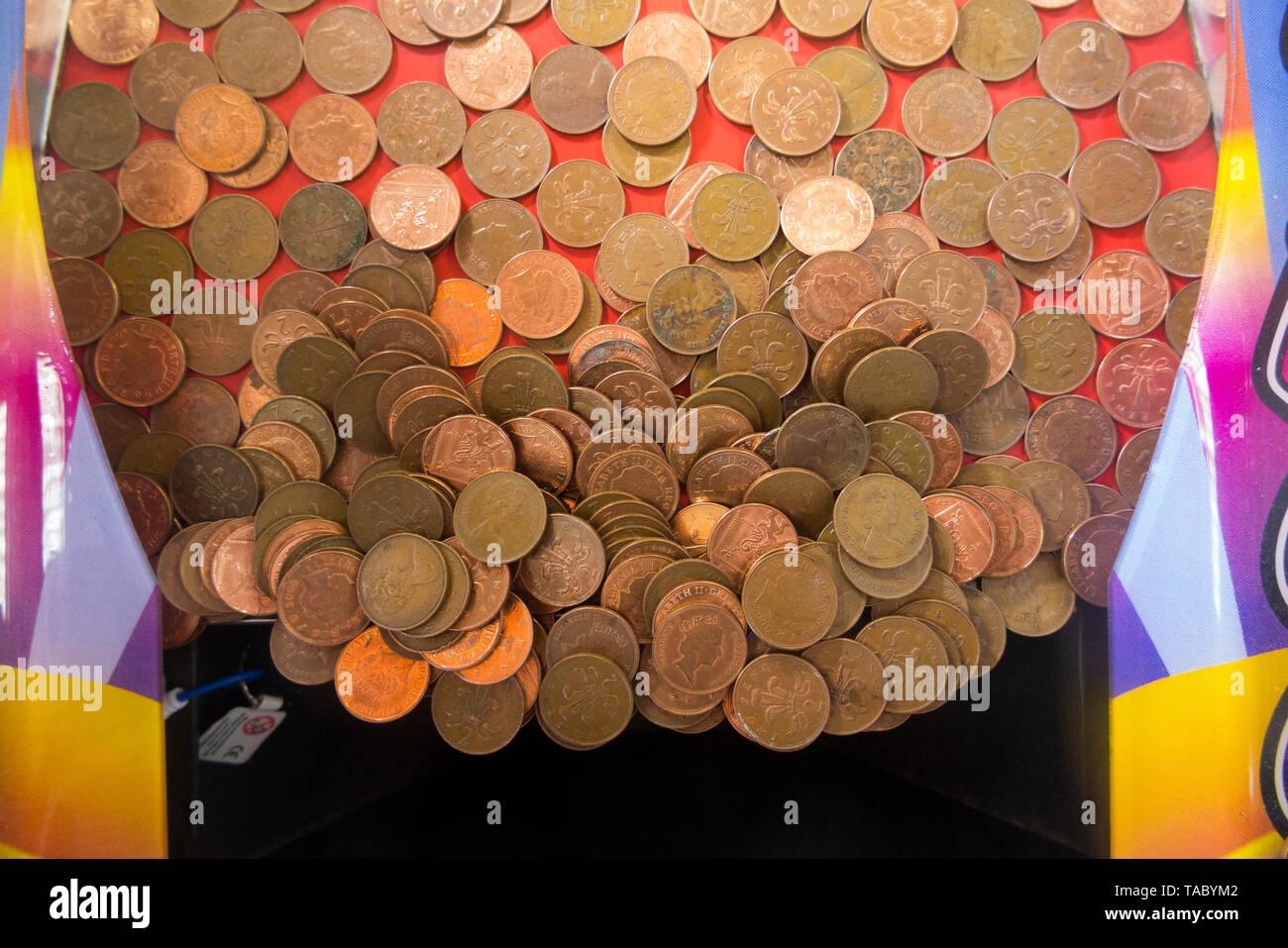 Arcade Amusement Game Coins De Stockamp; Imágenes CBedxo