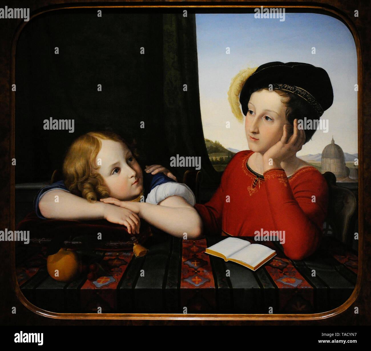 Wilhelm von Schadow (1789-1862). Pintor alemán. Retrato de hermanos Wienczyslaw y Konstanty Potocki, 1819. Museo Nacional. Varsovia. Polonia. Foto de stock