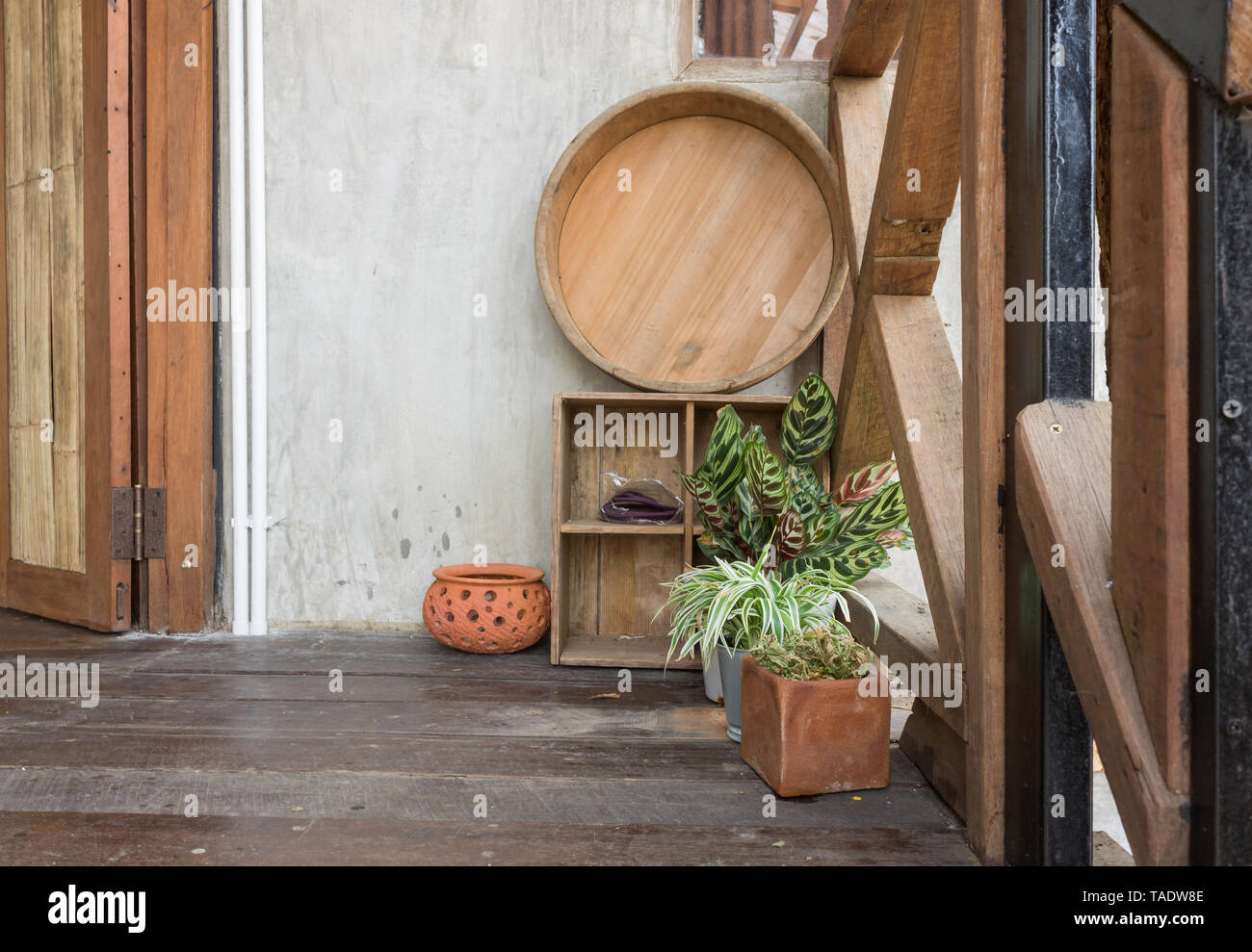 Planta De Cuenca Y En La Terraza De La Habitación De Diseño