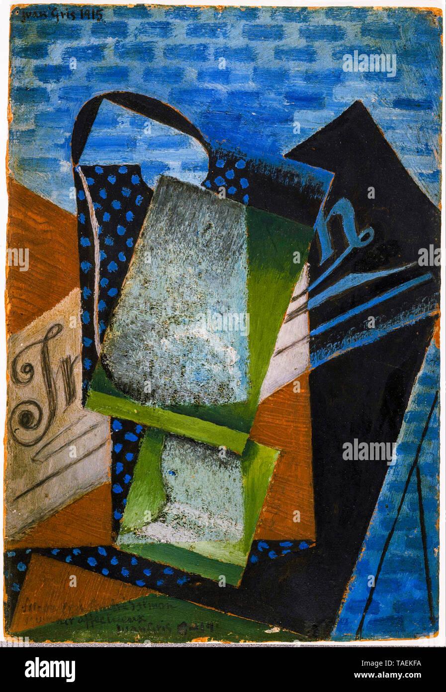 Juan Gris, la abstracción, la pintura abstracta, 1915 Imagen De Stock