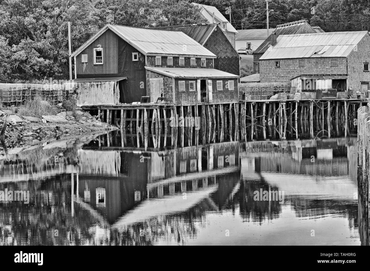 En Seal Cove, Grand Manan Island, New Brunswick, Canadá Foto de stock