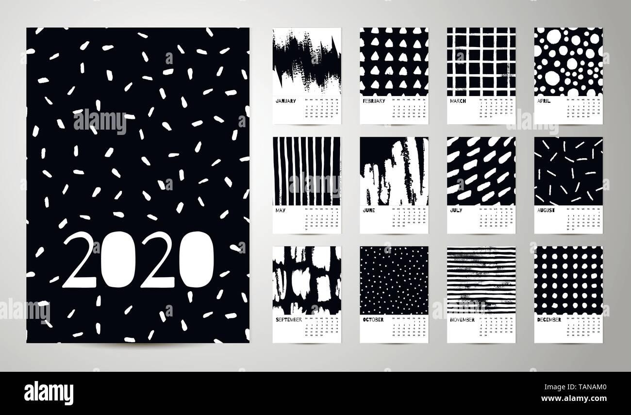 Calendario Adviento 2020.Vector De Calendario 2020 Vectores Imagenes De Stock Vector De
