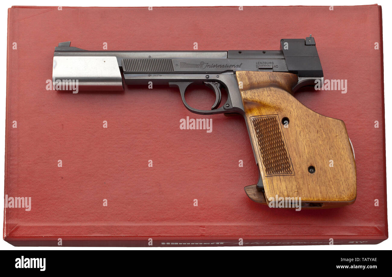 Las armas pequeñas, pistolas, pistolas de deportes de tiro, Suiza, Hämmerli 208, calibre .22, Additional-Rights-Clearance-Info-Not-Available Imagen De Stock