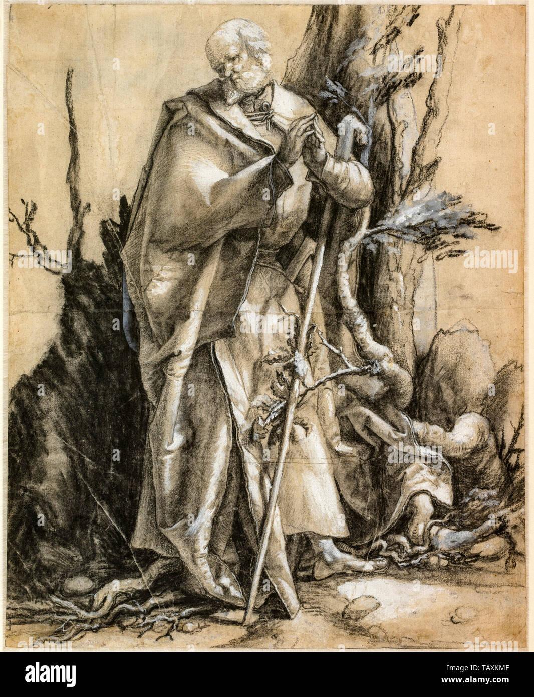 Albrecht Dürer, barbado San en un bosque, dibujo, circa 1516 Foto de stock