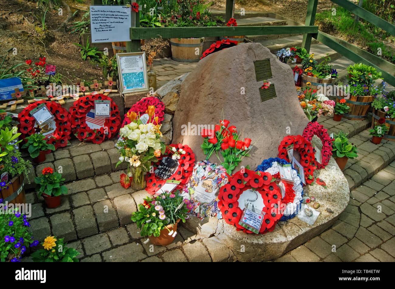 Reino Unido,South Yorkshire,Sheffield,Endcliffe Park,Mi Amigo Memorial Imagen De Stock