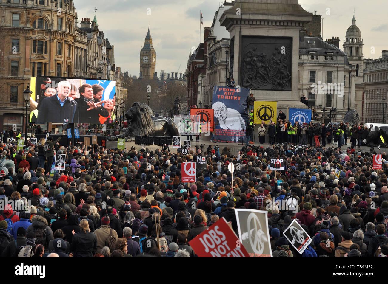 Cde Trident rally, Londres, Febrero de 2016 Imagen De Stock