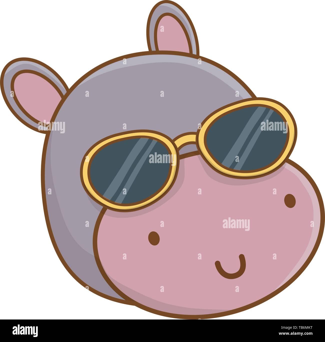 Imágenes Hippopotamus Cartoon Illustration De Stockamp; WHD9IE2Y