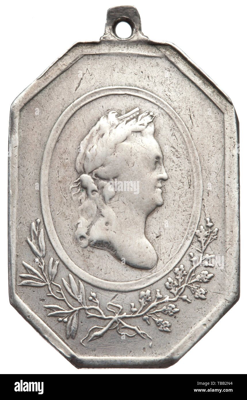 Una medalla Rusa en ocasión de la paz con Suecia el 3 de agosto de 1790 finales del siglo XVIII. Medallista de plata, K. Leberecht. Desapareció, dividido en la parte superior izquierda de retroceso. Peso ca. 15 g. Rara. histórico, histórico, medallas, condecoraciones, medallas, condecoraciones, la medalla de honor, medalla de honor, insignias de honor, insignias de honor, Additional-Rights-Clearance-Info-Not-Available Imagen De Stock