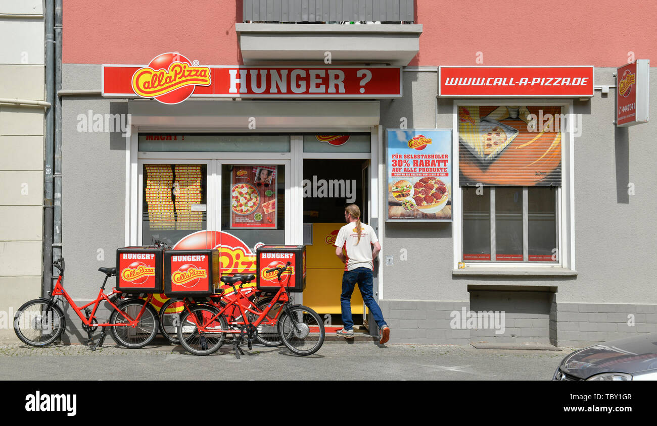 CallaPizza, Wichertstrasse, Prenzlauer montaña, Pankow, Berlín, Alemania, Wichertstraße, Prenzlauer Berg, Deutschland Foto de stock