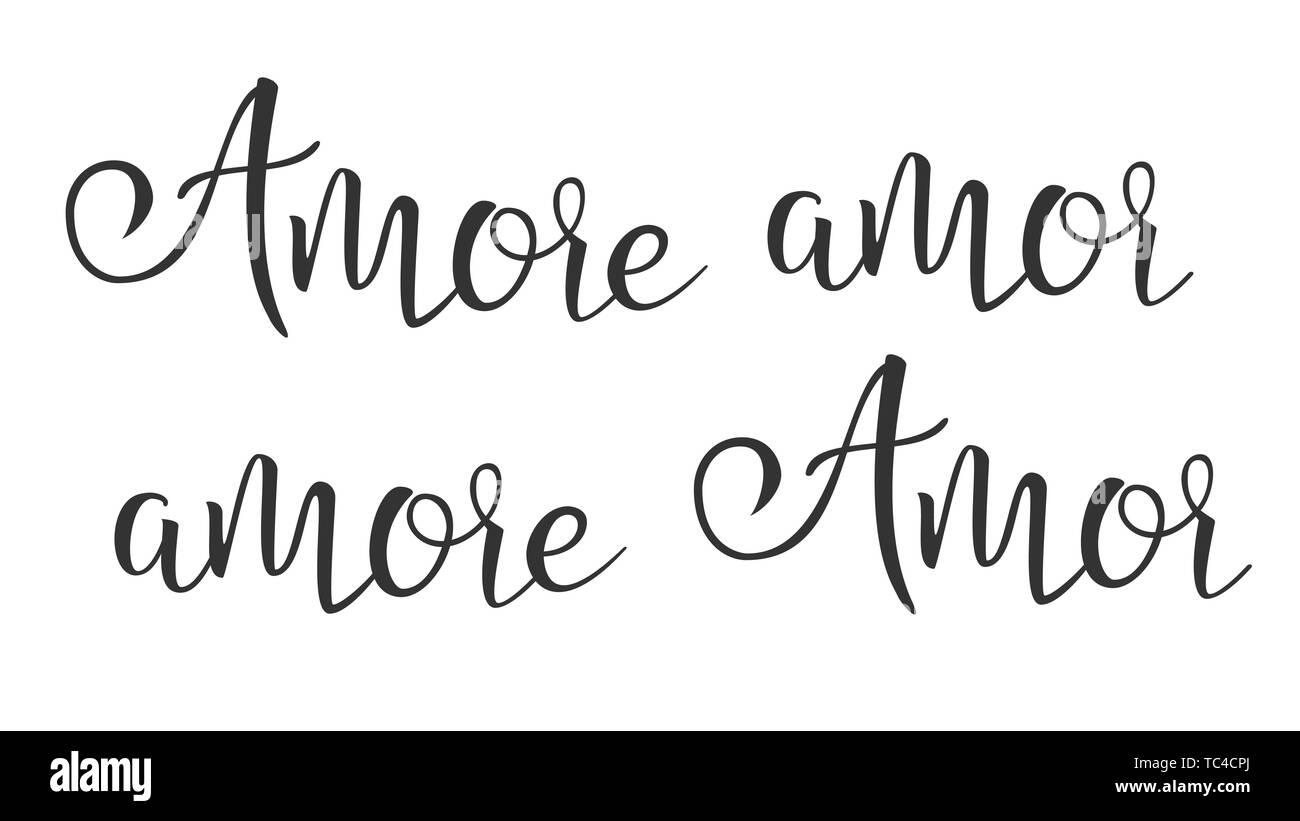 Gracioso moderna tinta de caligrafía de palabra Amor Vector Imagen De Stock
