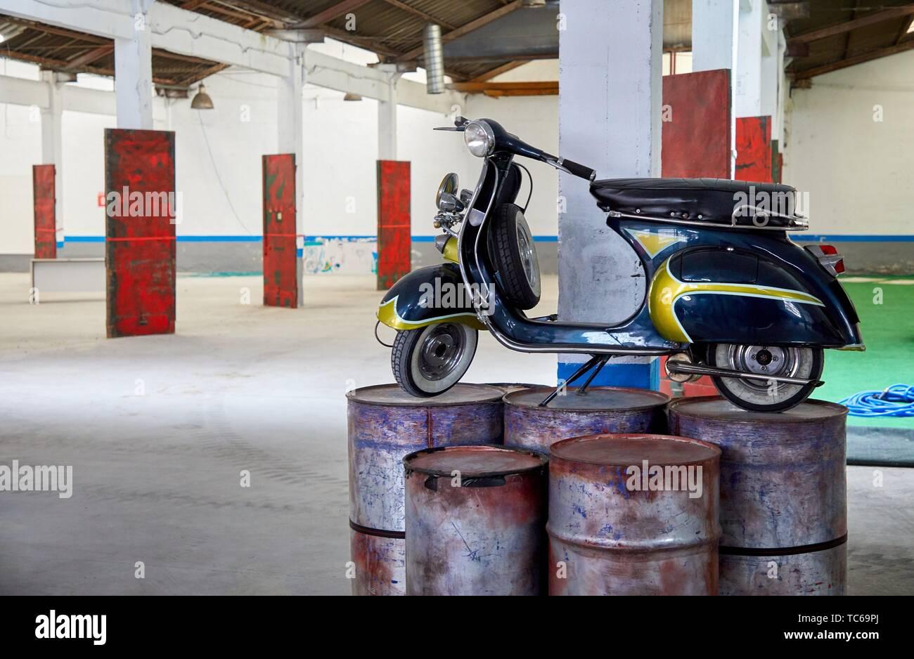 ZAWP Bilbao (Zorrotzaurre Art trabajo en progreso, un proyecto de Haceria Arteak, una asociación sin ánimo de lucro. Este movimiento fue creado en 2008 para abordar Imagen De Stock