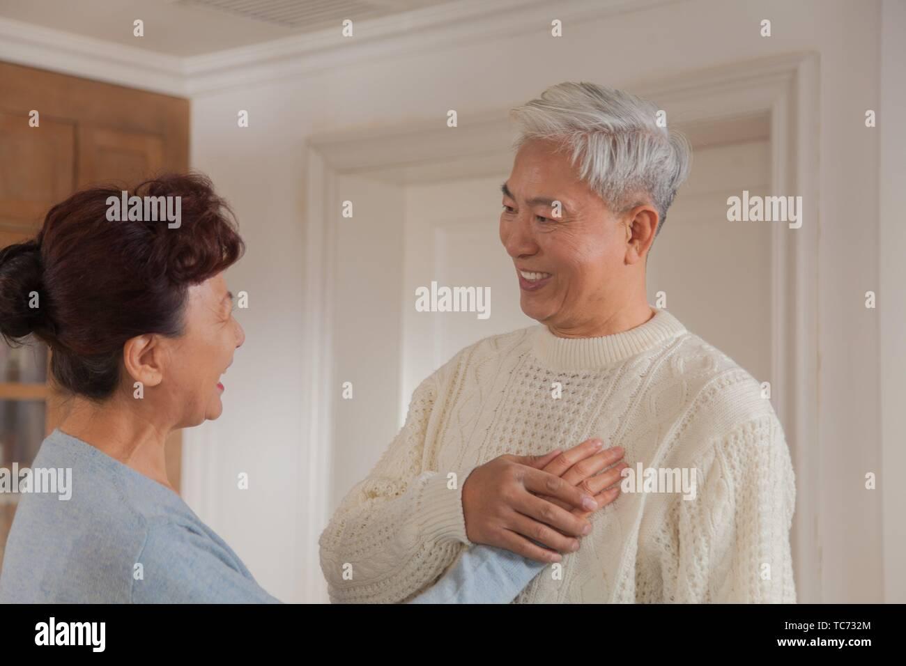 Feliz pareja senior, etnia china Imagen De Stock