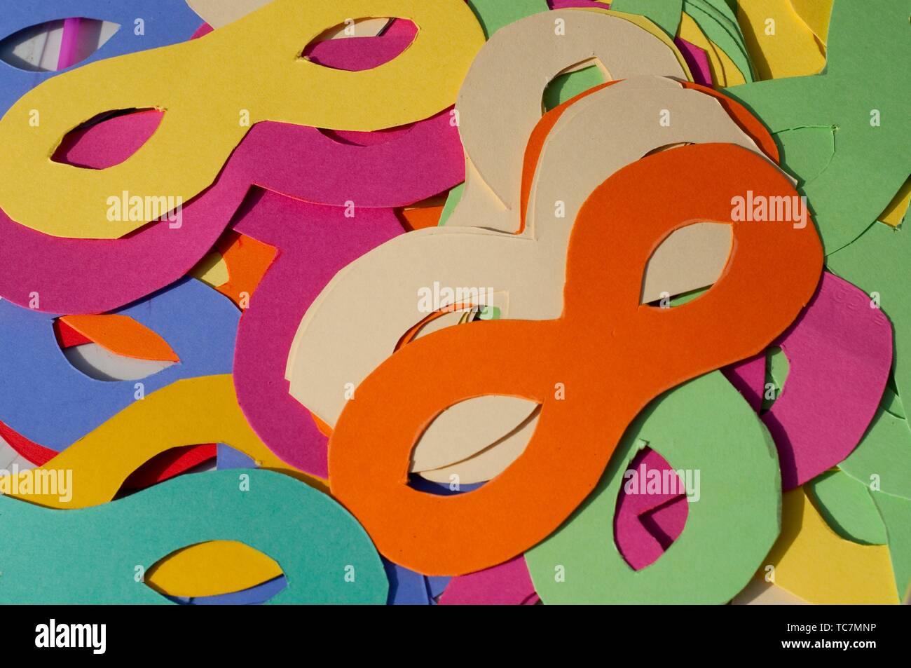 Colorido Carnaval máscara, cerca. Foto de stock