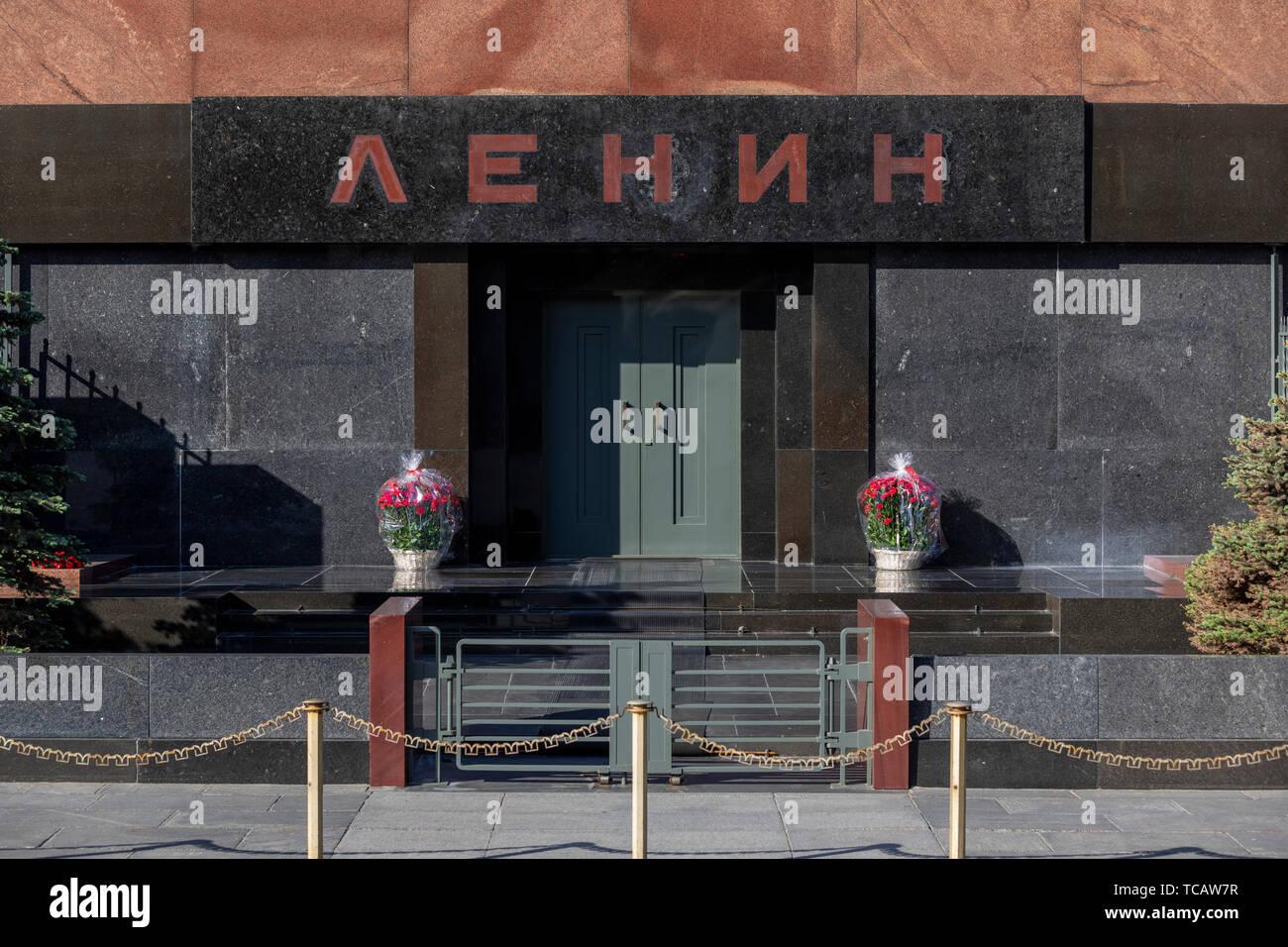 El Mausoleo de Lenin, la Plaza Roja, Moscú, Rusia Foto de stock
