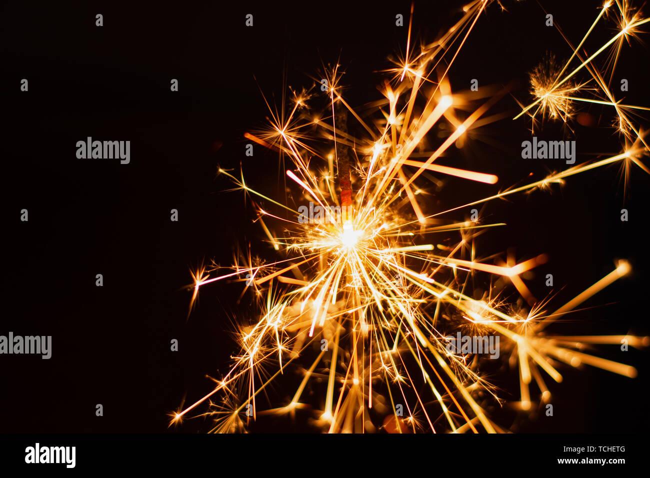 Bengala fondo. Navidad y Año Nuevo de bengala de fondo de vacaciones. Foto de stock