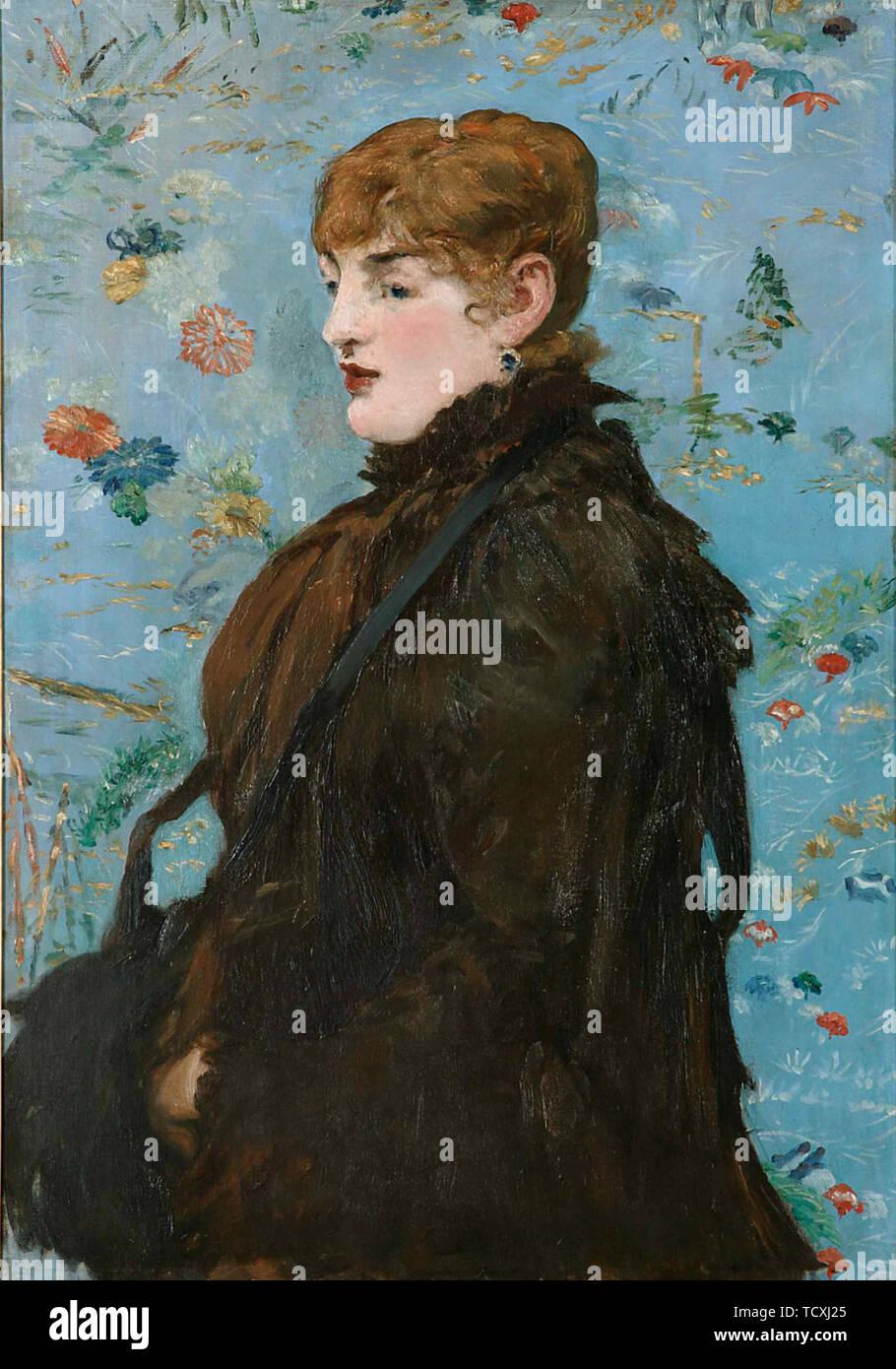 En otoño. Retrato de Méry Laurent, 1882. Creador: Édouard Manet (1832-1883). Foto de stock