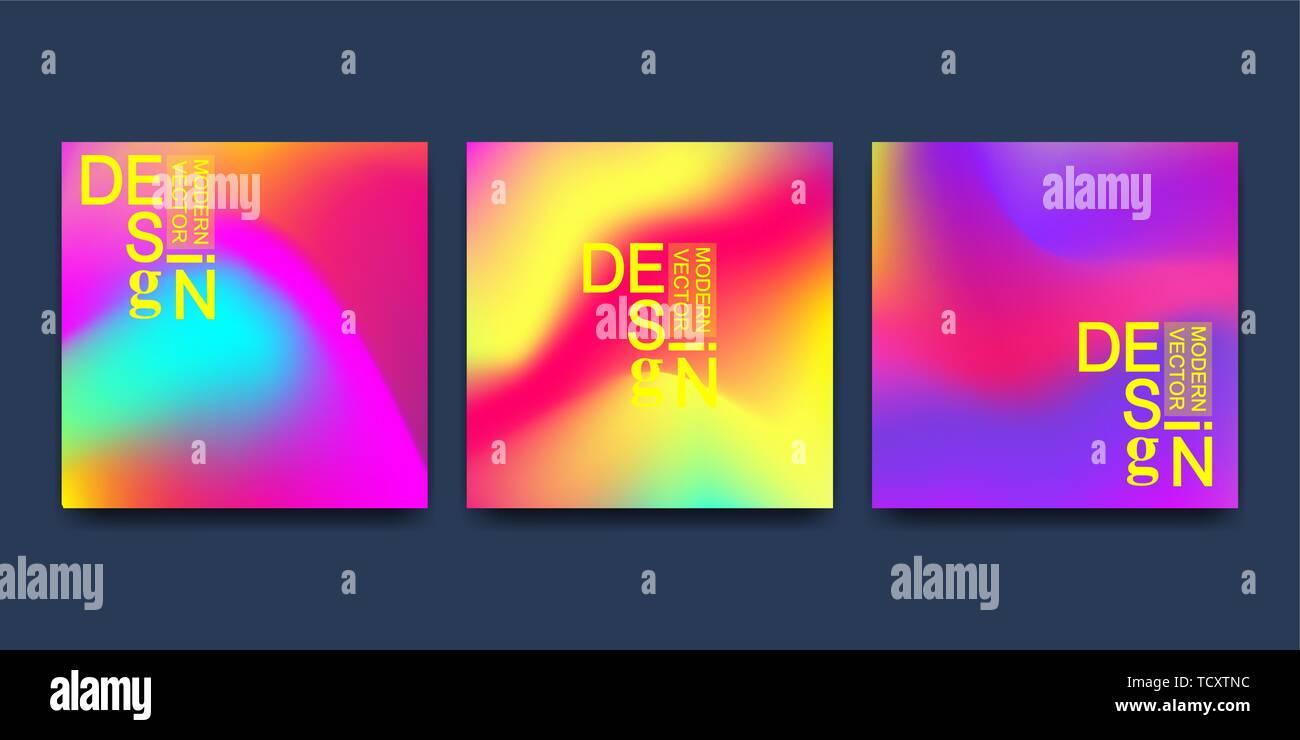 Plantilla vectorial moderno para el folleto cubrir banner. Líquido abstractas formas 3D vector fondos de colores líquidos de moda. Gráfico de líquido de color Imagen De Stock