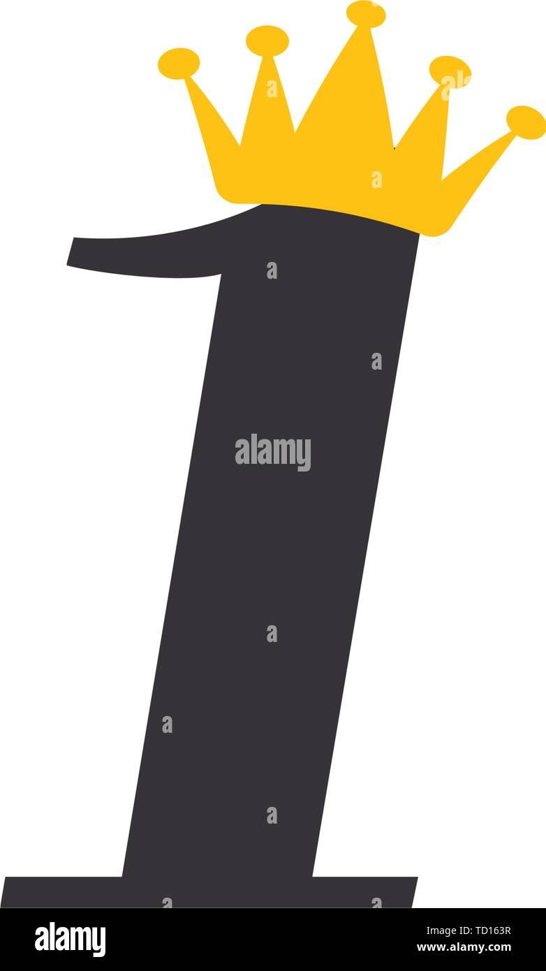 El icono número 1 plantilla de diseño gráfico ilustración vectorial Imagen De Stock