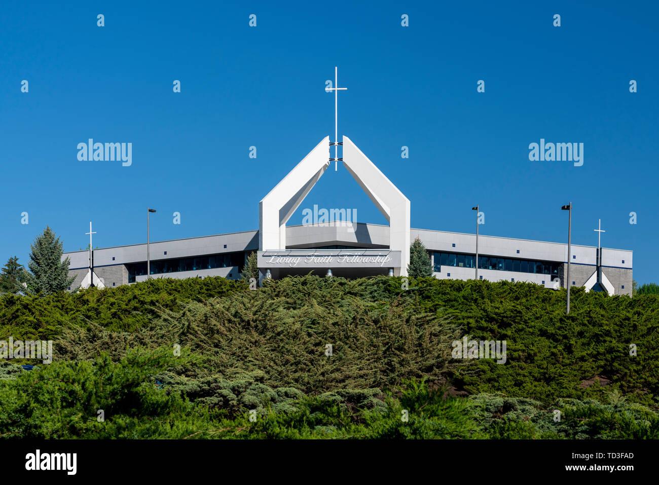 La verdad viva Fellowship Church, Palouse en Pullman, Washington, EE.UU. Imagen De Stock