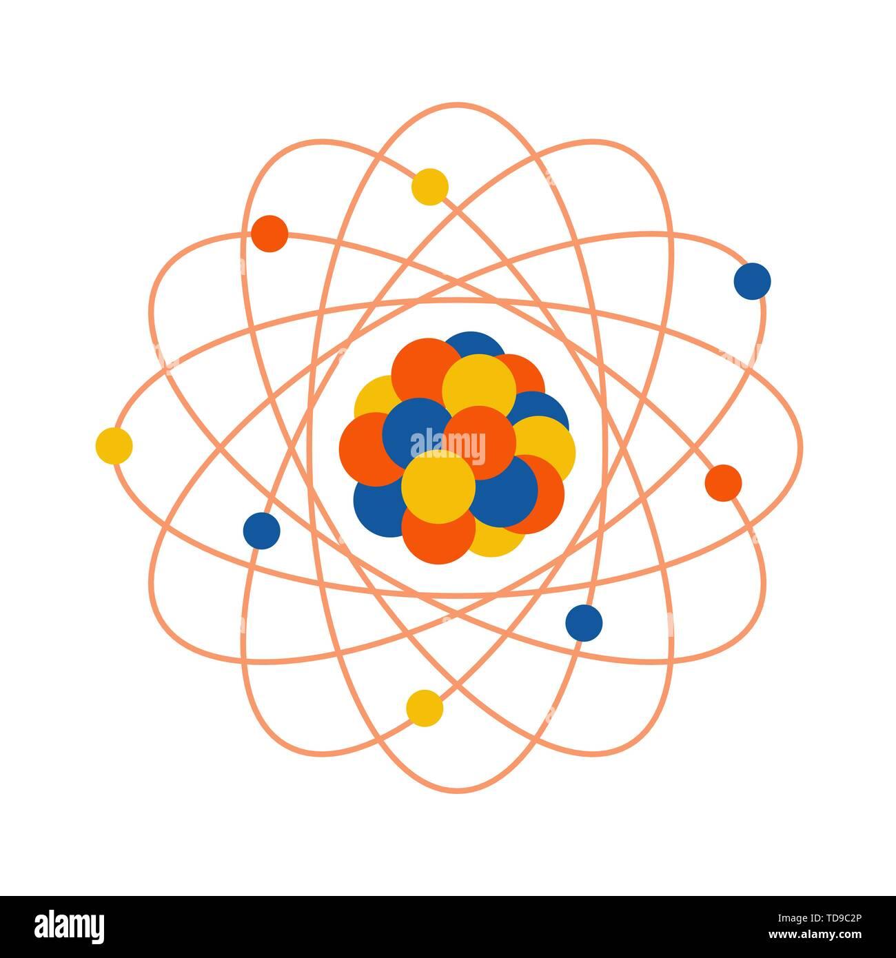 Ilustración Vectorial Con Estructura Atómica Imprimir Con
