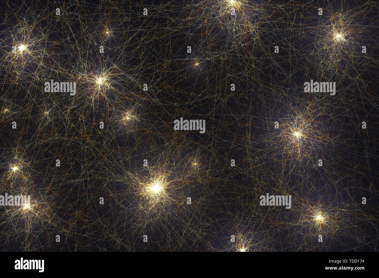 Red neuronal, Ilustración conceptual Imagen De Stock